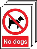 420x297mm No Dogs - Self Adhesive Pk of 6