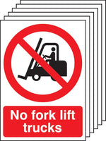 A3 No Fork Lift Trucks - Self Adhesive Pk of 6