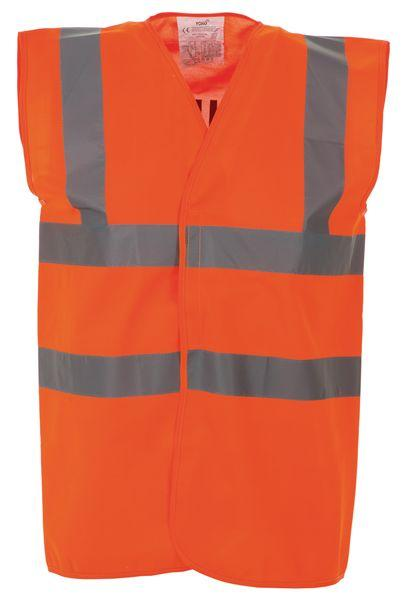 High Vis 2 Band Waistcoat - Orange Security - XXL
