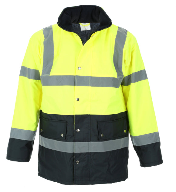 Hi Vis Bomber Jacket - Yellow - Large
