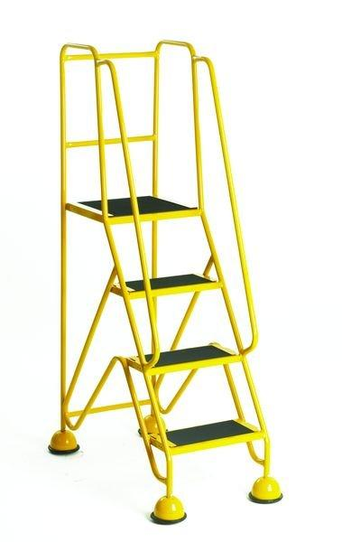 Premium Mobile Steps Yellow - 4 Step