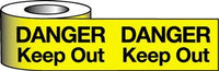 Barrier Warning Tape - 64mm x 100m - Danger Keep Out