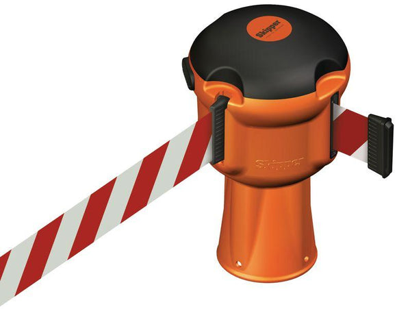 Skipper Retractable Barrier - Red and White Tape