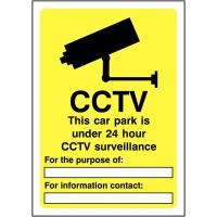 420x297mm CCTV This car park is - Self Adhesive