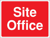 450x600mm Site Office Construction Sign - Rigid