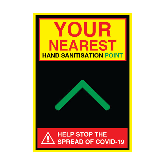 Sanitisation Point Ahead - 200gsm Satin/Matt Poster, Various Sizes - COVID-19