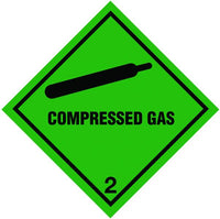 100x100mm Compressed Gas Magnetic Hazard Warning Diamonds
