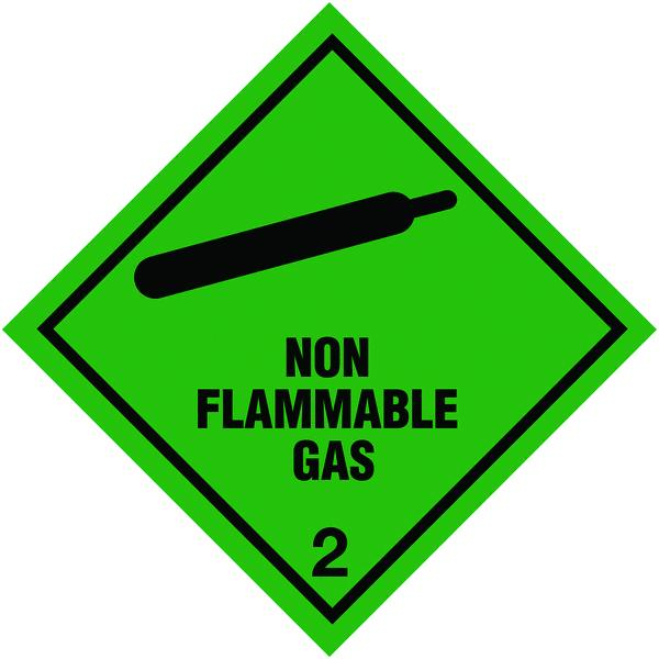 100x100mm Non Flammable Gas Self Adhesive Hazard Warning Diamonds
