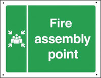 300x450mm Fire assembly point Vandal resistant sign