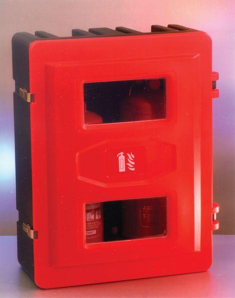 Fire Extinguisher Cabinet - Holds 2/3 x 9-12kg extinguishers/5kg CO2 extinguishers