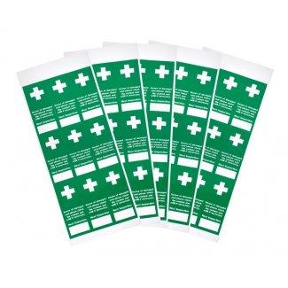 Tamperproof First Aid Inspection Labels - Pack 100