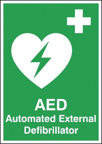 420x297mm Automated External Defibrillator - Self Adhesive