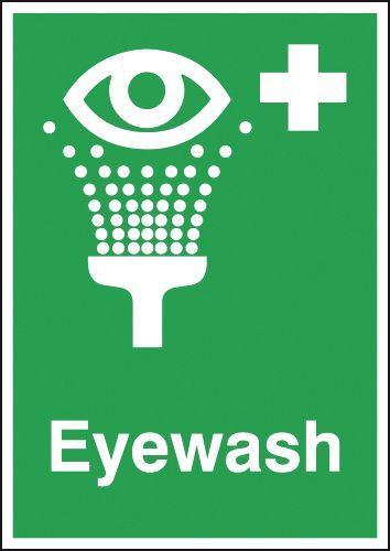 210x148mm Eyewash - Self Adhesive
