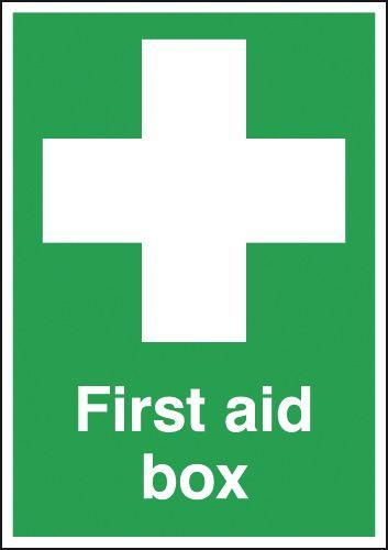 70x50mm First Aid Box - Self Adhesive