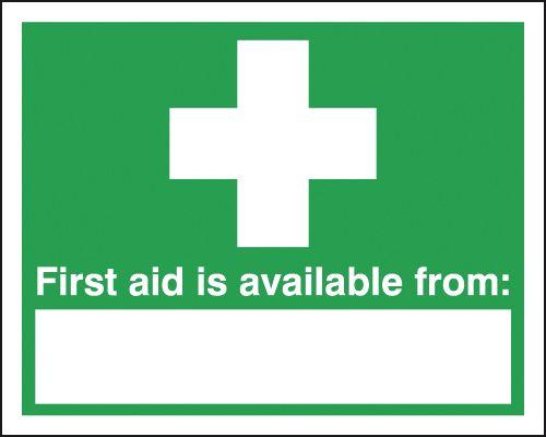 420x297mm First Aid Is Available From - Rigid