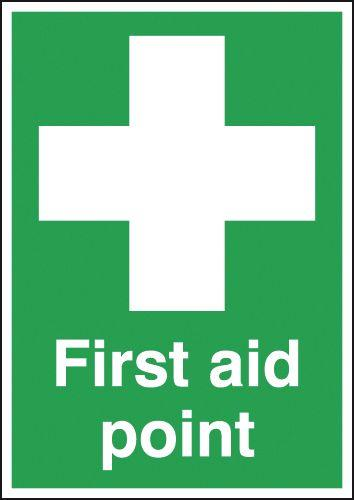 210x148mm First Aid Point - Rigid
