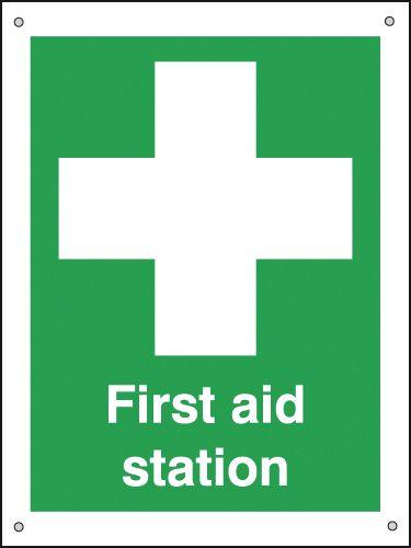 400x300mm First Aid Station - Aluminium