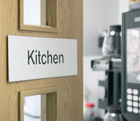 102x305mm Kitchen Architectural Door Sign Centre Aligned