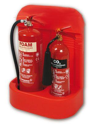 Heavy Duty Extinguisher Stand - Double