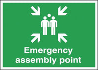 250x350mm Emergency Assembly Point - Rigid