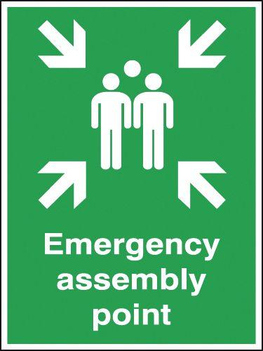 400x300mm Emergency assembly point Outdoor Sign
