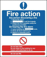 297x210mm Fire Action Notice - Self Extinguishing