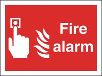 297x210mm Fire Alarm - Self Adhesive