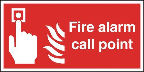 150x150mm Fire Alarm Call Point - Nite Glo Self Adhesive