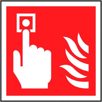 100x100mm Fire Alarm Call Point Symbol Only - Rigid