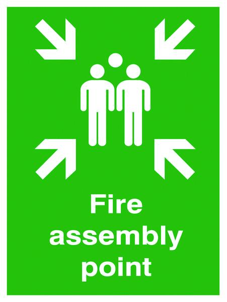 400x300mm Fire assembly point Outdoor Sign