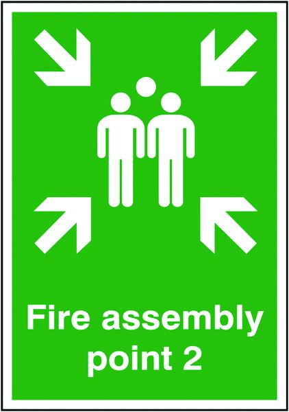 594x420mm Fire Assembly Point 2 - Self Adhesive