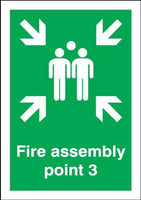 297x210mm Fire Assembly Point 3 - Self Adhesive