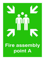 600x450mm Fire Assembly Point A - Post Mounted Aluminium