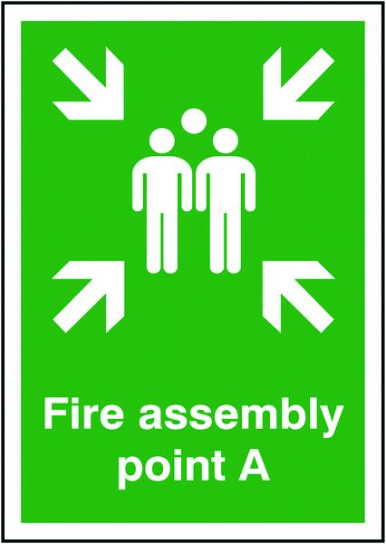 297x210mm Fire Assembly Point A - Self Adhesive