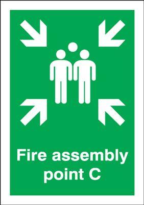 297x210mm Fire Assembly Point C - Self Adhesive