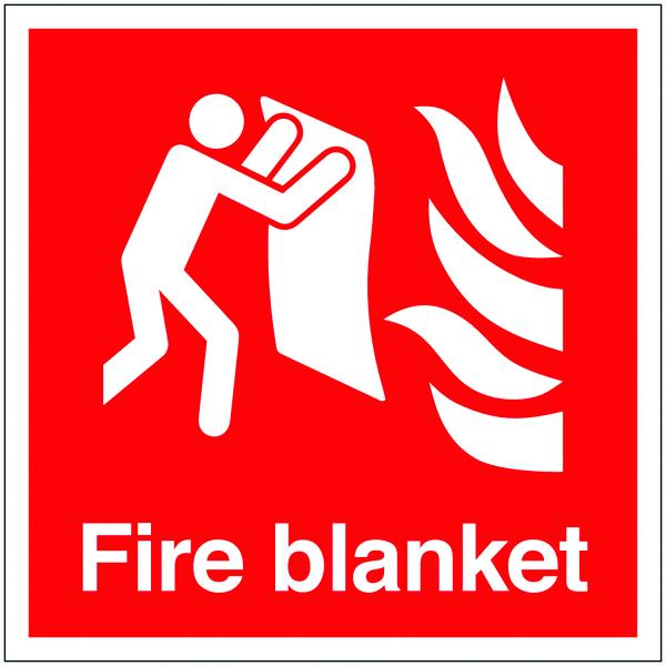 200x200mm Fire Blanket - Self Adhesive