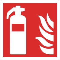 200x200mm Fire Extinguisher Symbols Only - Self Adhesive