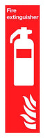 200x400mm Fire Extinguisher Symbol & Flames - Rigid