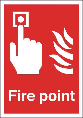 210x148mm Fire Point - Self Adhesive