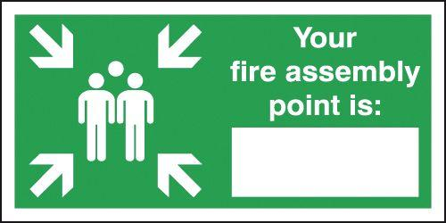 250x350mm Your Fire Assembly Point - Self Adhesive