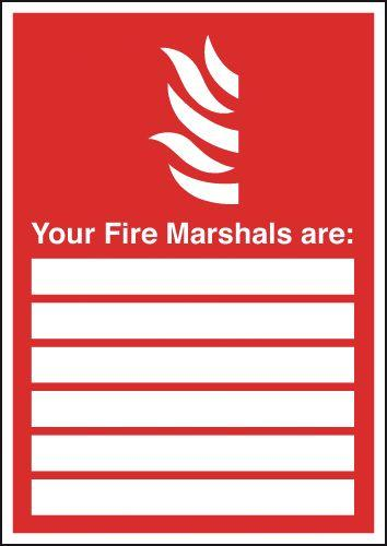297x210mm Your Fire Marshals Are (with spaces) - Self Adhesive
