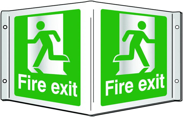 200x400mm Fire exit Projecting 3D Sign