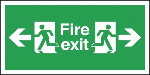 150x300mm Fire Exit Arrow Left & Right - Self Adhesive