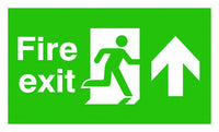 150x450mm Fire exit up sign - T Bar
