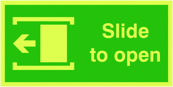 100x200mm Slide To Open Left - Nite Glo Self Adhesive