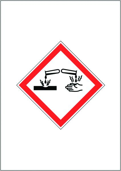 297x210mm Corrosive GHS Signs