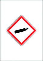 A4 COMPRESSED GAS GHS SIGN MAGNETIC