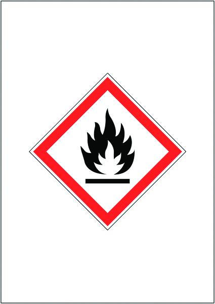 A4 FLAMMABLE GHS SIGN MAGNETIC