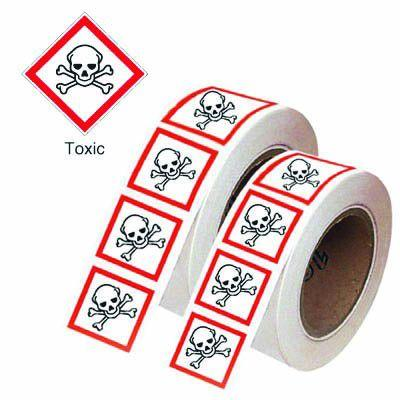 100x100mm Toxic GHS Symbols on a roll
