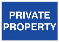300x400mm Private Property - rigid
